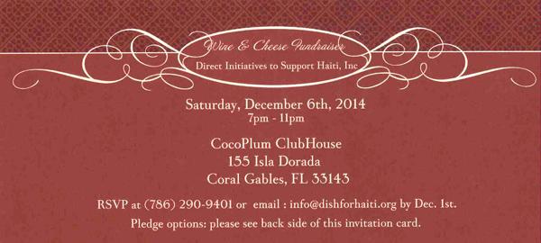 Wine And Cheese Fundraiser Invitation