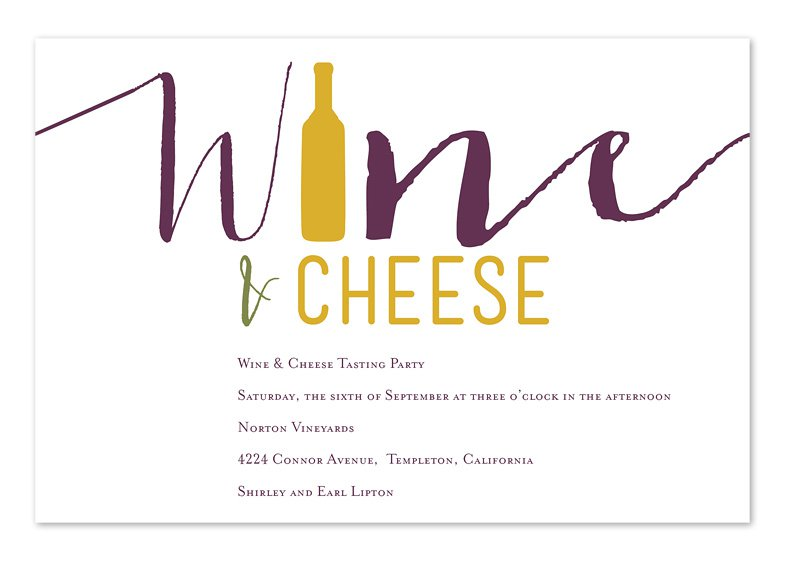 Wine And Cheese Party Invitations Templates Word