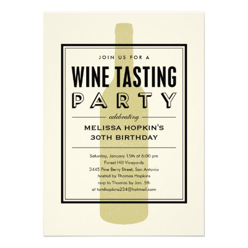 Wine Birthday Party Invitation Wording