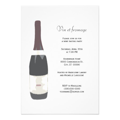 Wine Bottle Invitation Cards