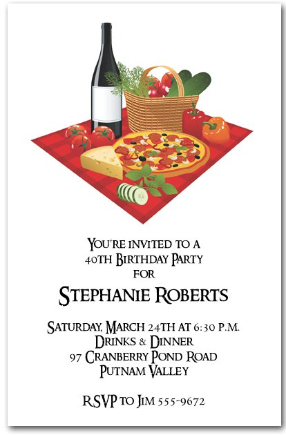 Wine Event Invitation Wording