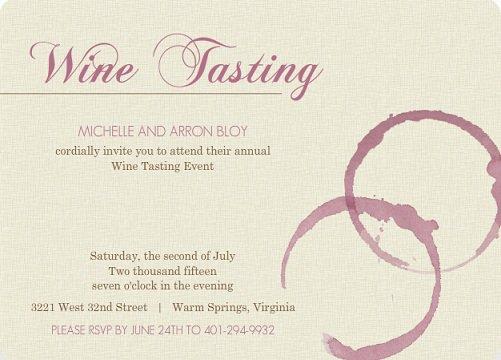 Wine Tasting Event Invitation Wording