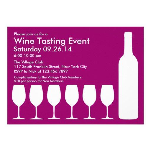 Wine Tasting Event Invitations