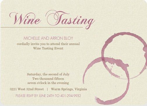 Wine Tasting Party Invitations Printable