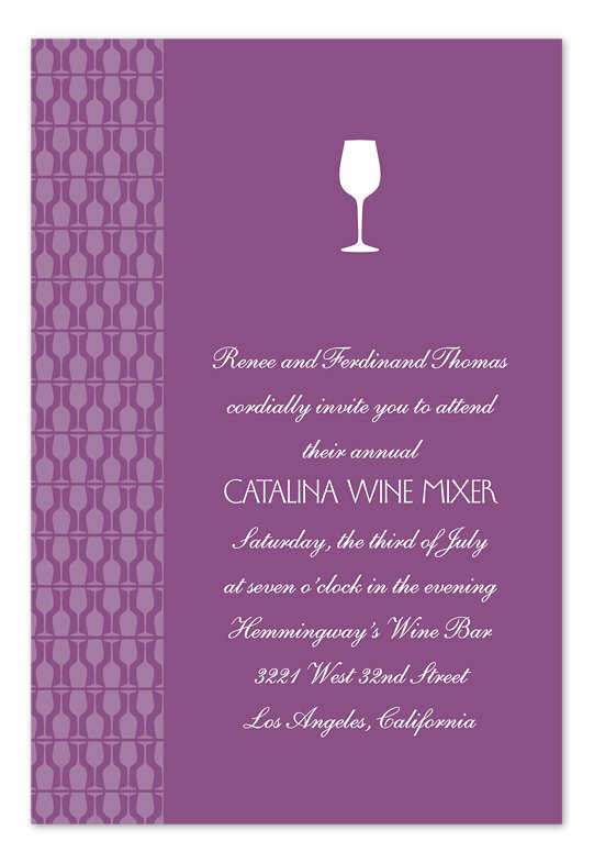Wine Tasting Party Invitations Wording