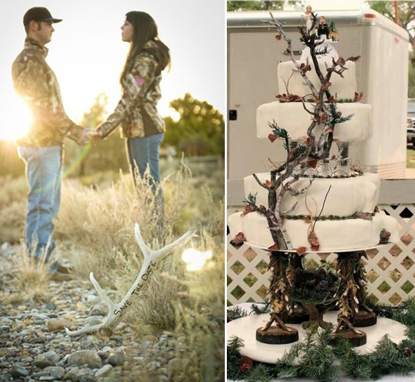 Winter Camo Wedding Invitations