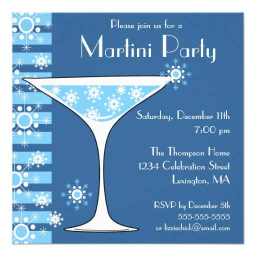 Winter Cocktail Party Invitations