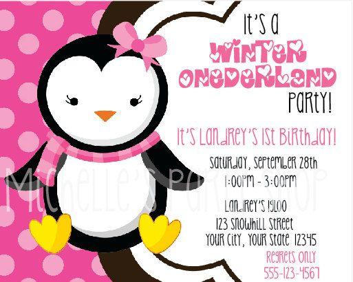 Winter Onederland Invitations