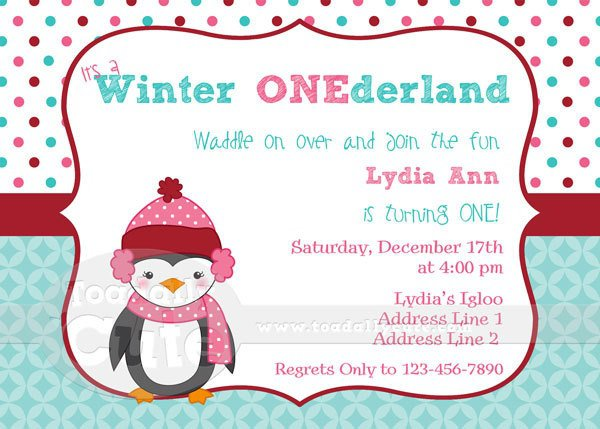 Winter Onederland Invitations Etsy
