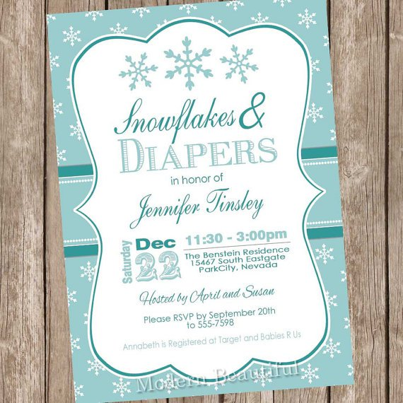 Winter Party Invitations Blank