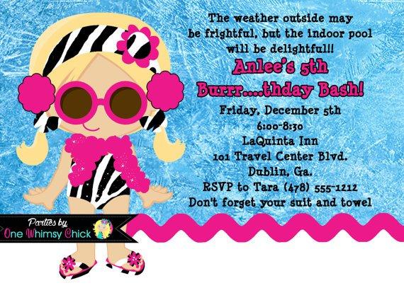 Winter Pool Party Invitation Wording