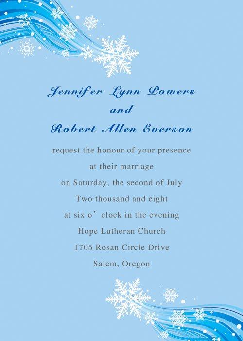 Winter Wedding Invitation Printable