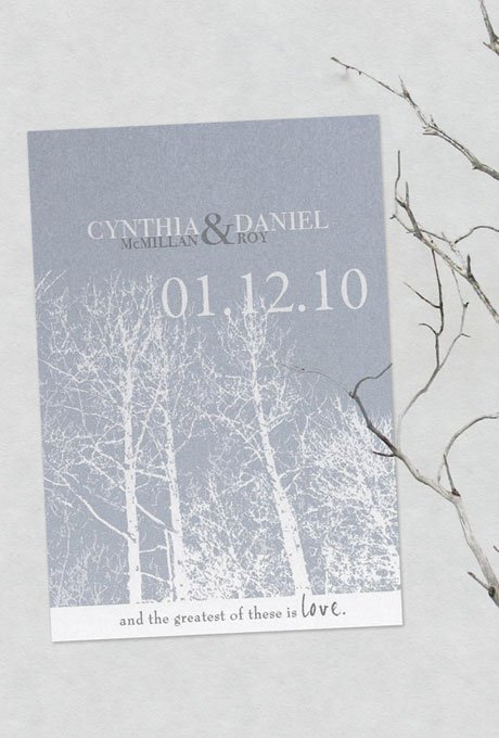 Wedding Invitations – Winter Wedding Save the Date