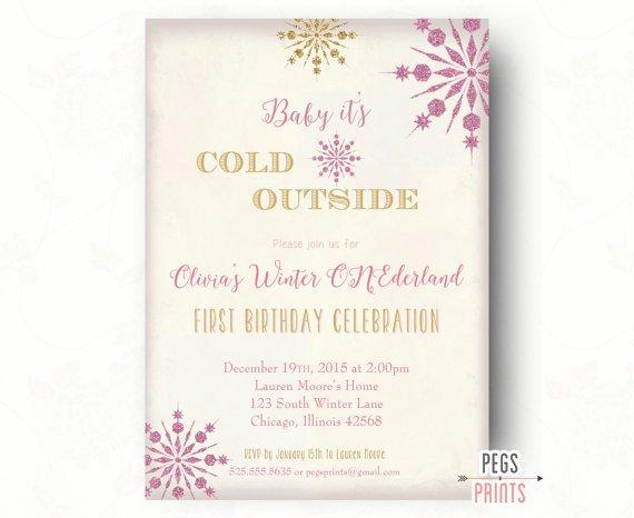 Winter Wonderland First Birthday Invitation Wording
