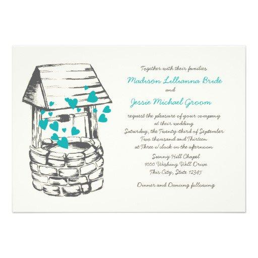 Wishing Well Wording Wedding Invitations