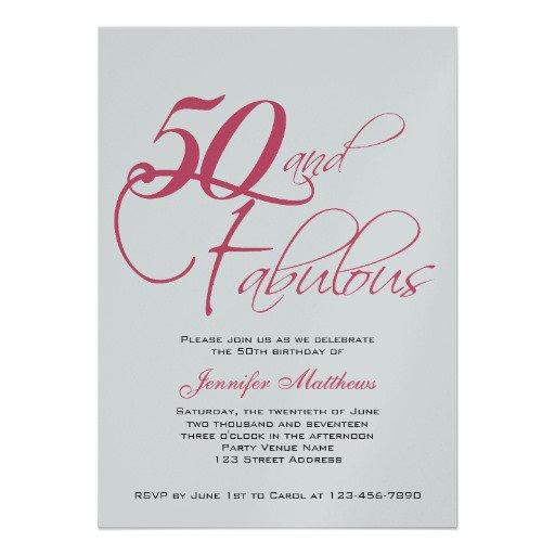 Wording For 50th Birthday Invitations