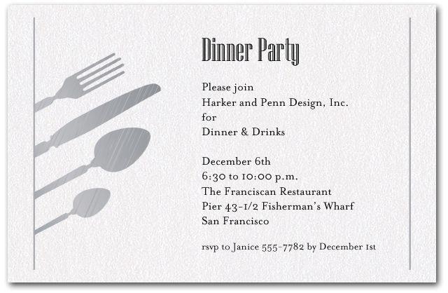 Work Dinner Invitation Template