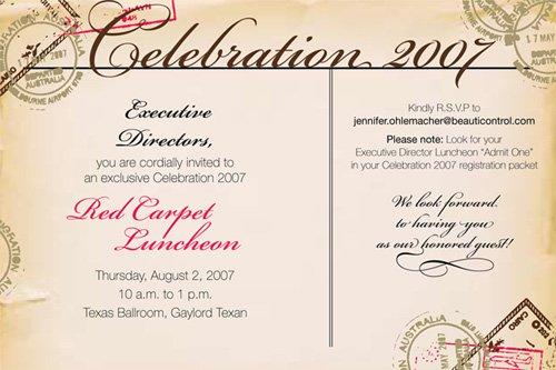 Work Invitation Flyer