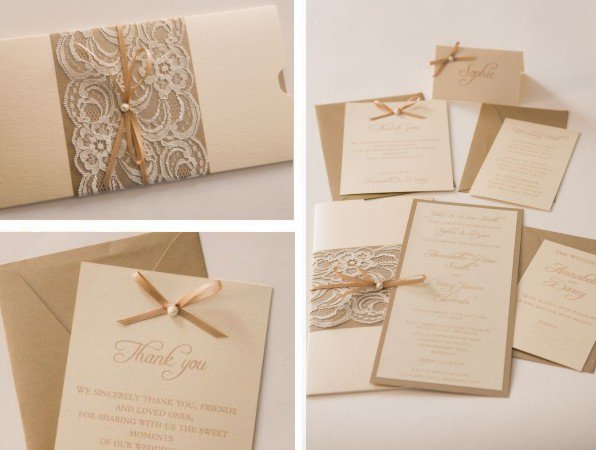 Woven Bridal Shower Invitations With Hearts