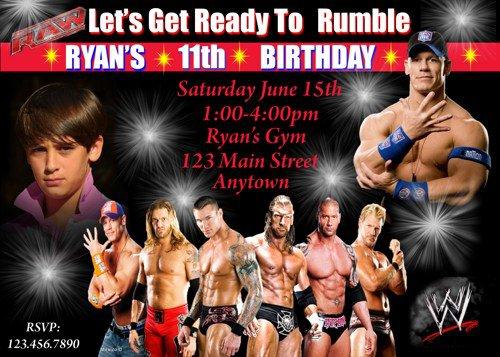 Wwe Birthday Party Invitations Free