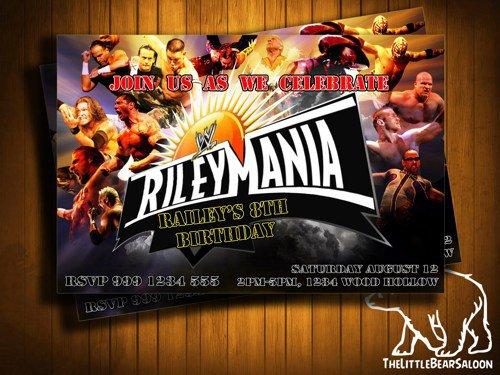 Wwe Wrestling Invitations Free