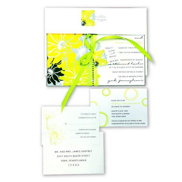 Yellow Country Wedding Invitations