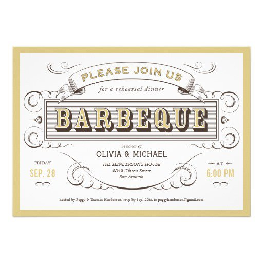 Zazzle Vintage Rehearsal Dinner Invitations