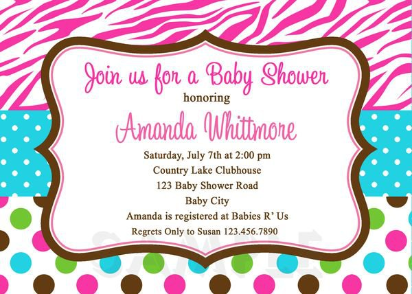 Zebra Blank Invitations