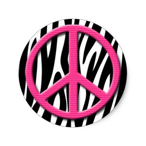Zebra Print Peace Sign