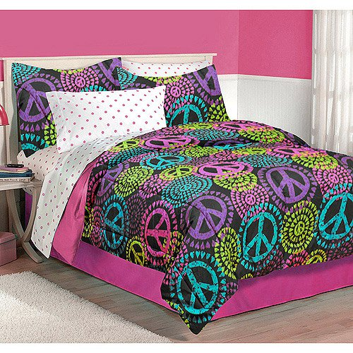 Queen Size Peace Sign Bedding Sets
