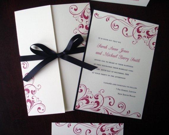 Zen Inspired Wedding Invitations