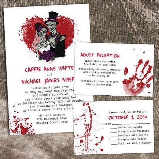 Zombie Halloween Party Invitation Wording