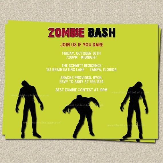 Zombie Party Invitation Wording