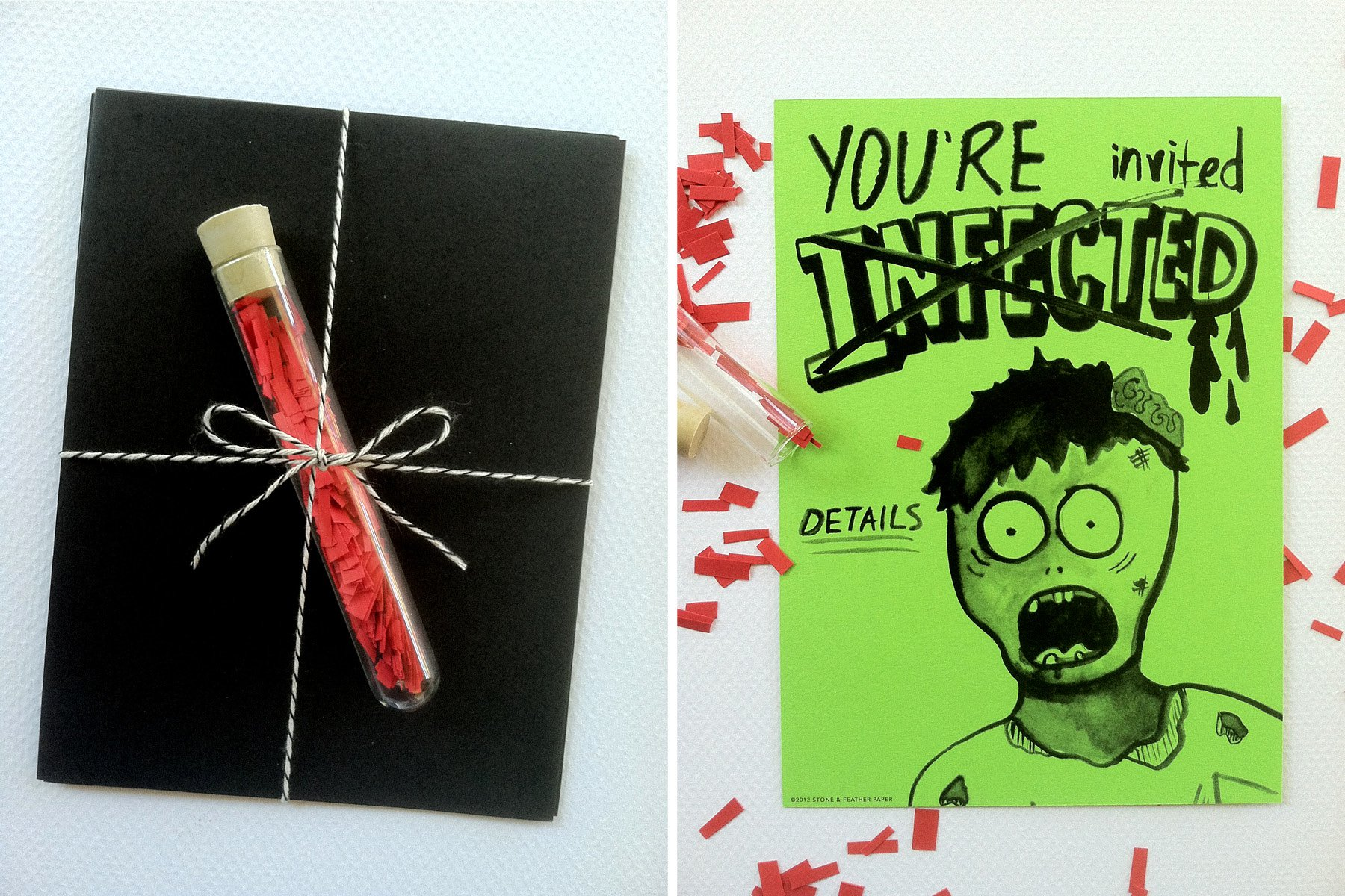 Zombie Party Invitations Print Outs