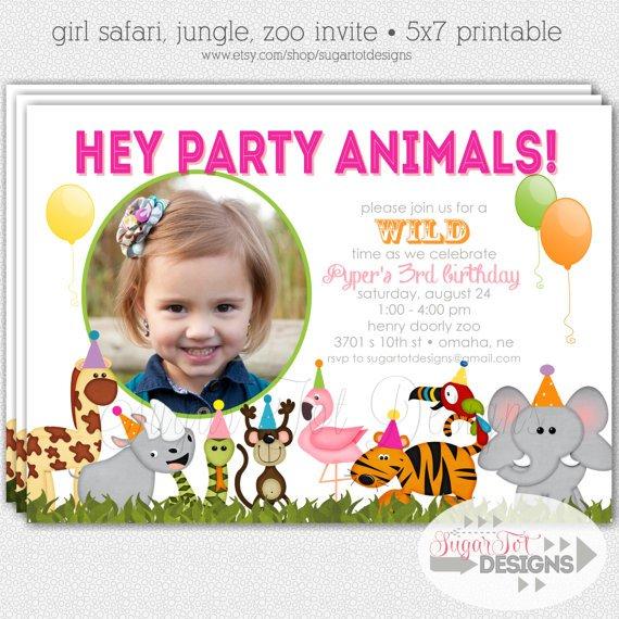 Zoo Birthday Party Invitation Wording